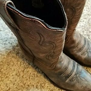 NEW Brown Leather Western Cowboy Boots